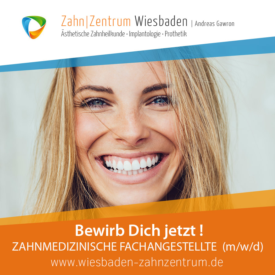 2020-12 ZFA Jobangebot - Stellenanzeige Zahnzentrum Wiesbaden