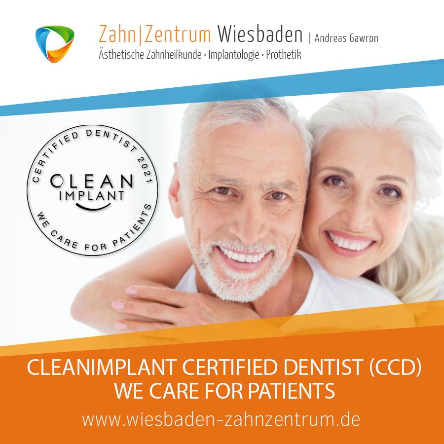 CleanImplant Certified Dentist (CCD) - Zahnimplantate Wiesbaden