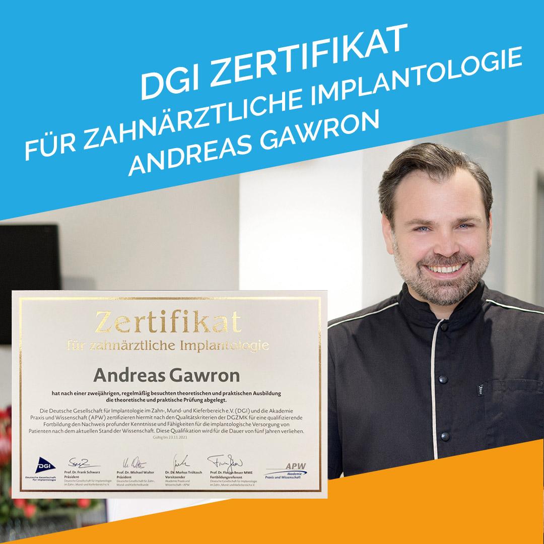 2021-10 Implantologie DGI Zertifikat - Wiesbaden Andreas Gawron